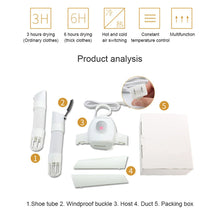 Load image into Gallery viewer, Portable Electric Clothes Dryer & Hanger - علاقة لتجفيف الملابس