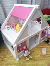Load image into Gallery viewer, Wooden Doll House for Girls - فيلا خشب للدمى تركيب  للبنات