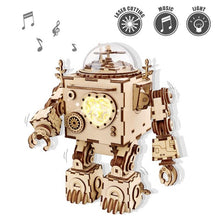Load image into Gallery viewer, Creative Wooden Robot/ Puzzle - روبوت مصنوع من قطع خشبية