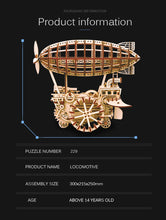 Load image into Gallery viewer, Creative Wooden Airship/ Puzzle - منطاد مصنوع من قطع خشبية