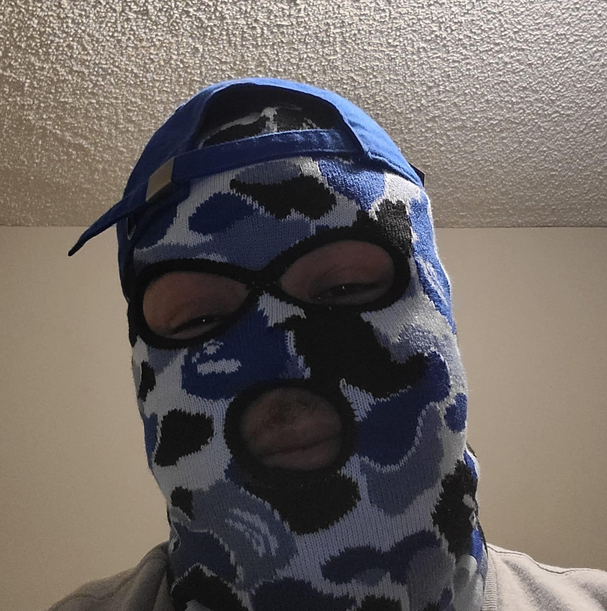 BLUEBERRY BAPE SKI MASK