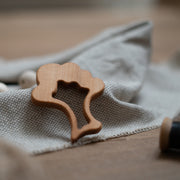 Vegan Teether: broccoli wooden teether