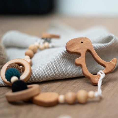 T-Rick the Dinosaur wooden teether
