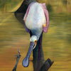 "Original Wildlife Bird Artwork Oil on Canvas for Sale ""I See You"""