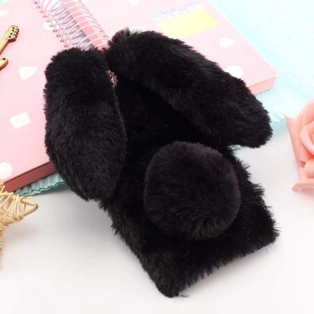 3D Cute Rabbit Black - black / for iphone 8 plus