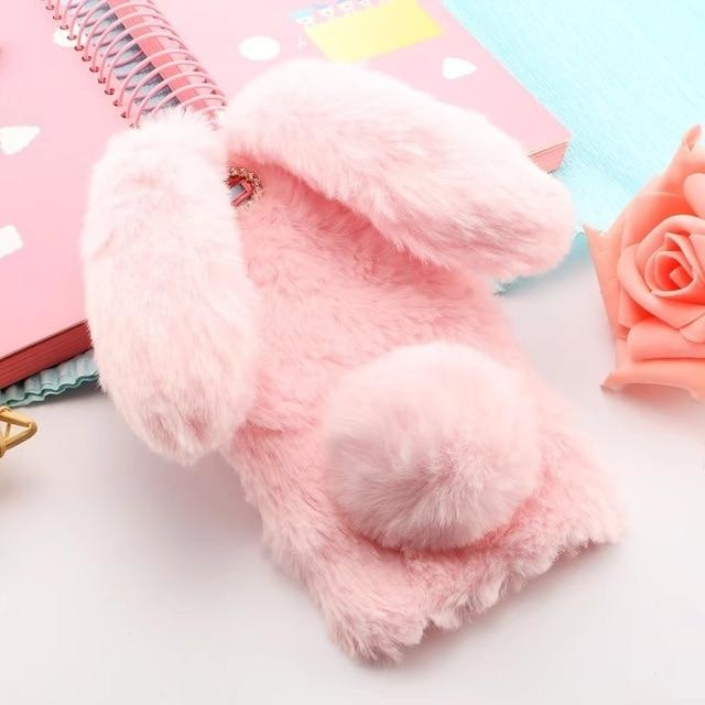 3D Cute Rabbit Pink - pink / for iphone 8 plus
