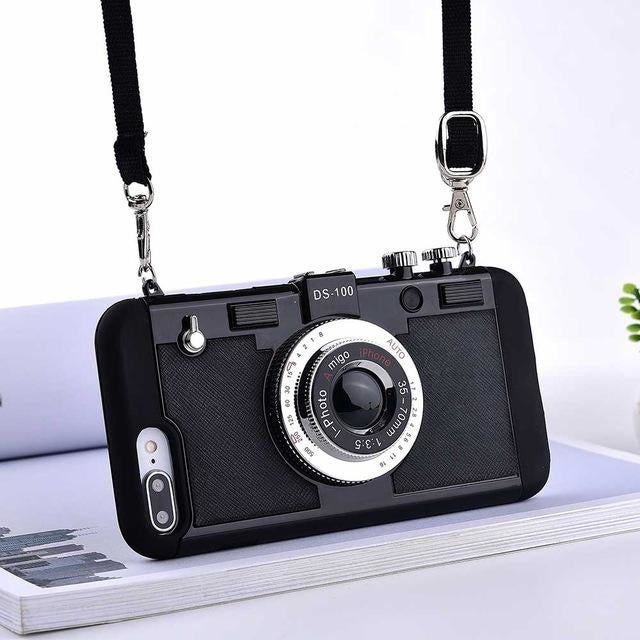 3D Retro Camera - black / for iphone 6 6s
