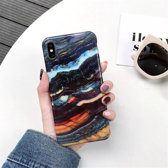 Dark Colorful Marble - For iphone 6 6S / F27