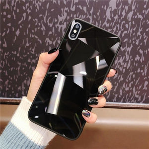 Diamond Mirror Black - For iphone XR / Black