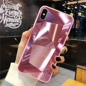 Diamond Mirror Pink - For iphone XR / Pink