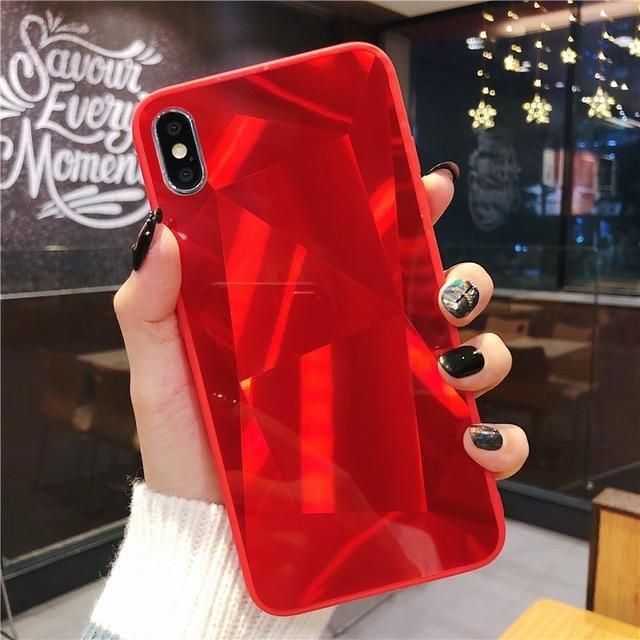 Diamond Mirror Red - For iphone X / Red