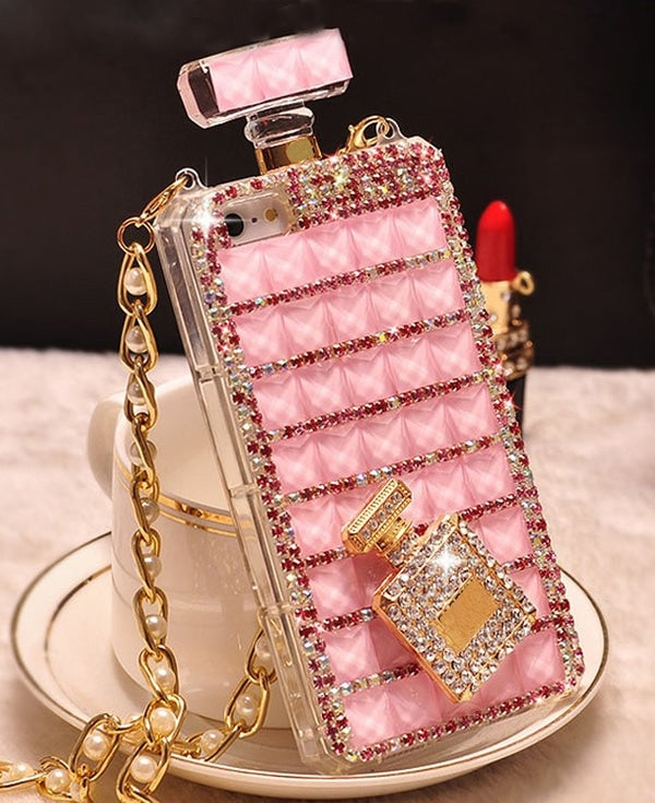 Diamond Perfume Case Pink