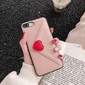 Fashion Love Leather - Pink / For iPhone 6 6S