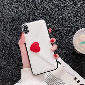 Fashion Love Leather - WHITE / For iPhone 6 6S