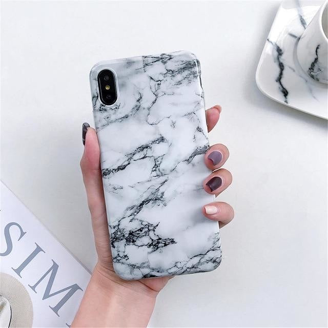 Gray and White Marble - For iphone 6 6S Plus / F4