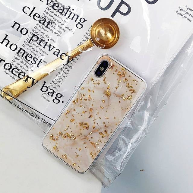 Light Bling Gold Marble - Light Bling Gold Marble / For iPhone 6s Plus