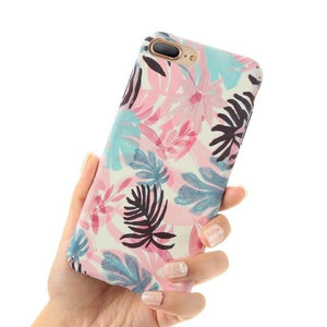 Pink Blue Flower - Pink Blue Flower / For iPhone 6 6s
