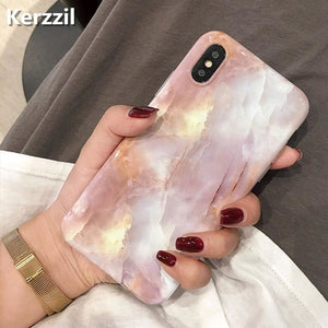 Pink Gold Bling Marble