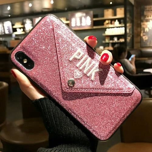 Pink Love Leather PINK - H / For iphone 6 6s
