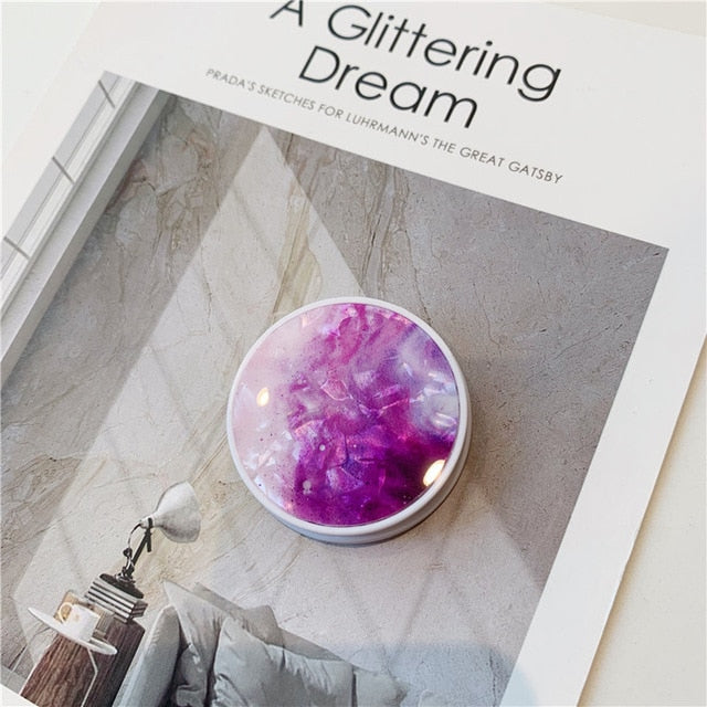 Purple Gemstone Pop Socket