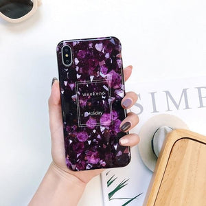 Purple Marble - Purple Marble / For iphone 6