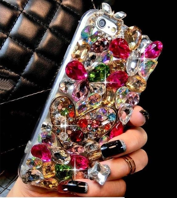 ROSE Diamond Case Rhinestone Bling - Rose / for Galaxy S8