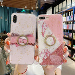 Silicone Cover (Pink Marble)