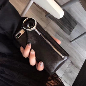 Soft Leather Wallet (Black) - Black / for iphone 6