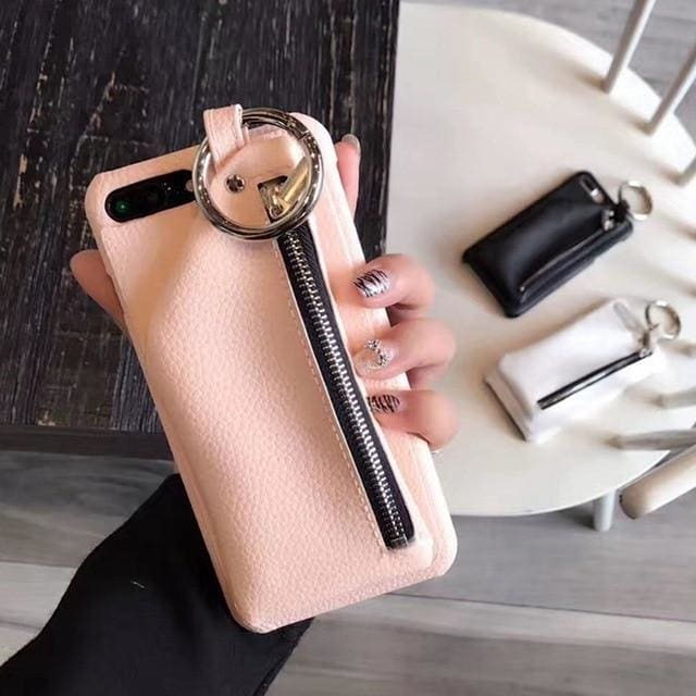 Soft Leather Wallet (Pink) - Pink / for iphone 6
