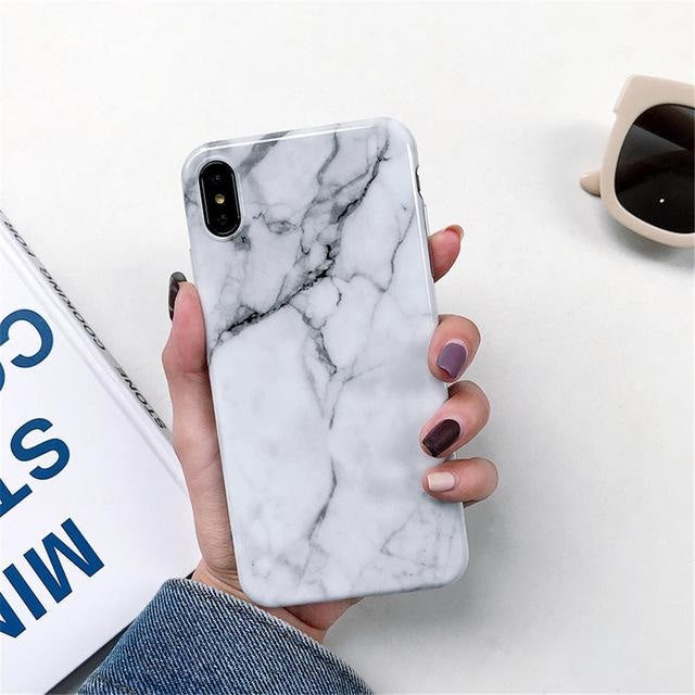 White Marble - For iphone 6 6S Plus / F6