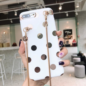White with gold dot (comes with chain)