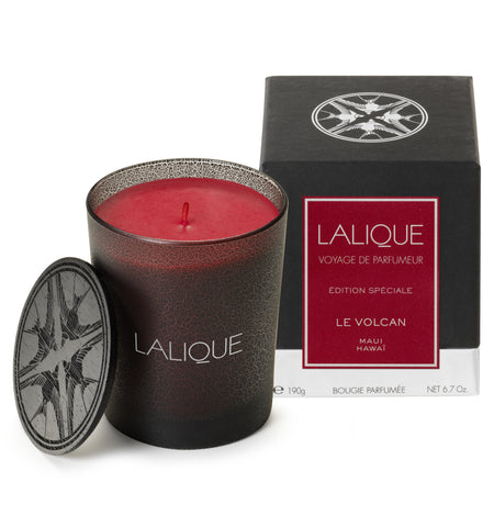 LALIQUE CANDLE 190 G, THE VOLCANO, MAUI- HAWAII