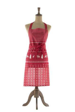 HOLIDAY Apron - Reverse Jumper Print (Red)