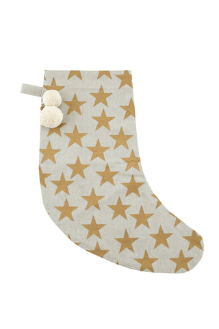 HOLIDAY Stocking - Stars (Metallic Gold)