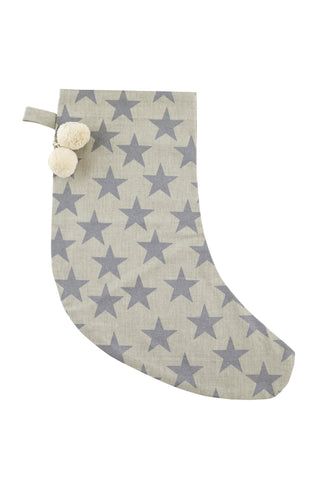 HOLIDAY Stocking - Stars (Metallic Silver)