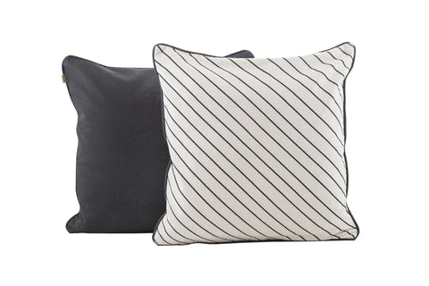 CORE Diagonal Pinstripe Pillow (Raven)