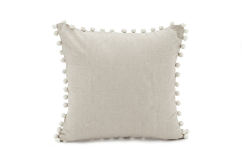 CORE Pom Pillow - Chambray (Taupe)