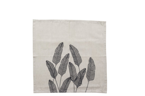 PALM Napkin - Leaf (Raven/Natural) Set of 4