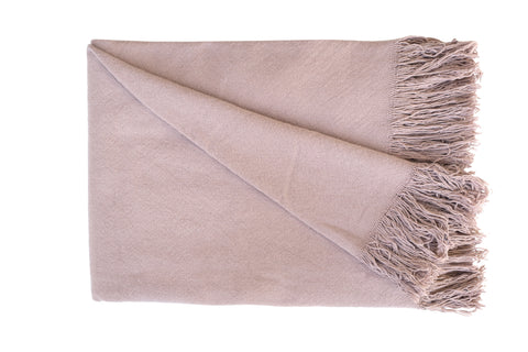 SWAN LAKE Throw - Cotton Jute (Mushroom Pink)