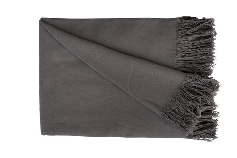 SWAN LAKE Throw - Cotton Jute (Cygnet Grey)