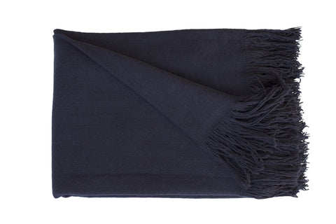SWAN LAKE Throw - Cotton Jute (Denim)