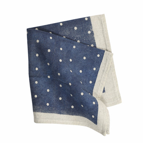 SWAN LAKE Napkin Pack (Set of 4) - Polka Dot (Denim)
