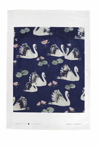 SWAN LAKE Tea Towel - Swan Print (Swan Lake)