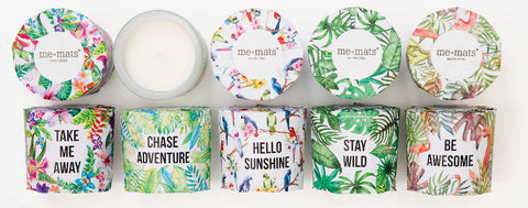 Summer Collection - Set of 5 Inspirational Candles