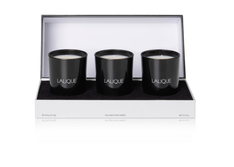 LALIQUE CANDLE MINI SET OF 3