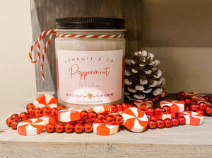 Peppermint Mocha Scented Candle