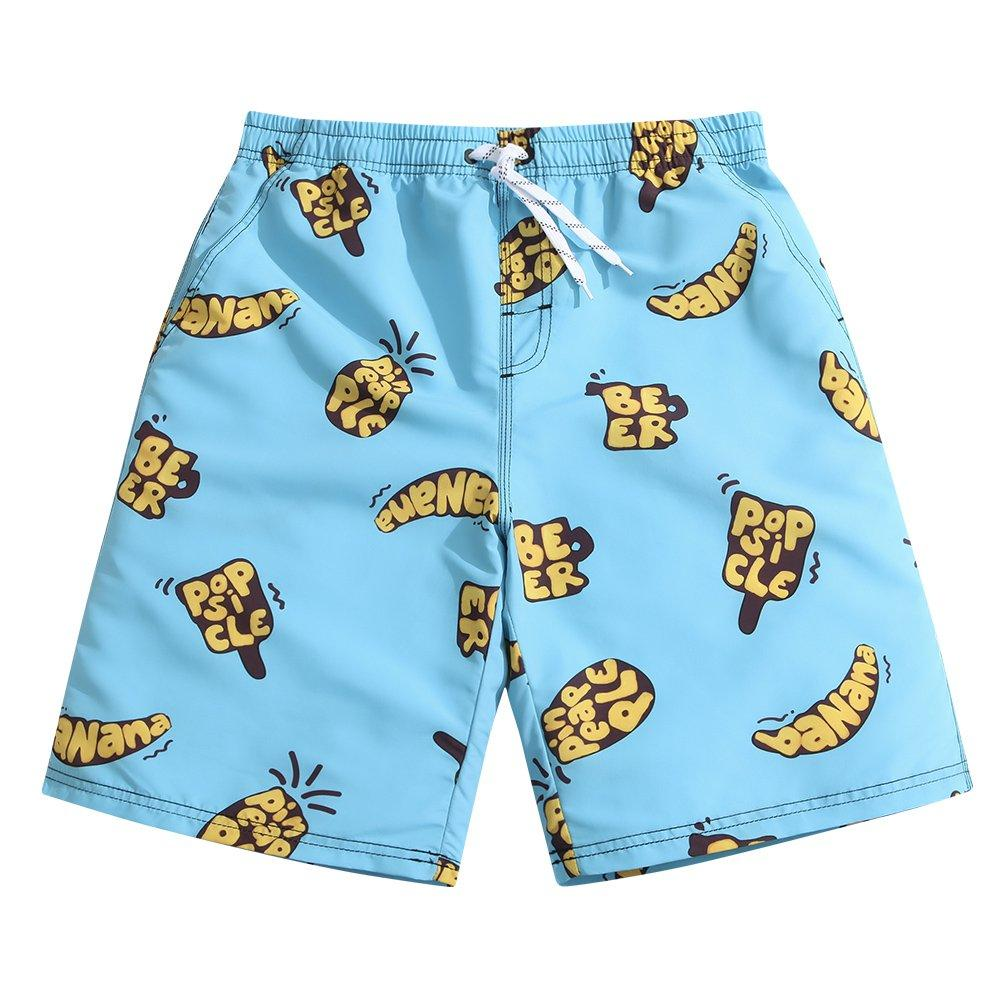 BE6h Mens Summer Surf Short Swim Trunks Quick Dry Pants with Pockets for Mans