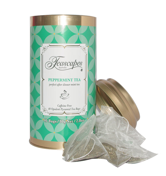 Peppermint Pyramid Tea Bags - 40 bag tin