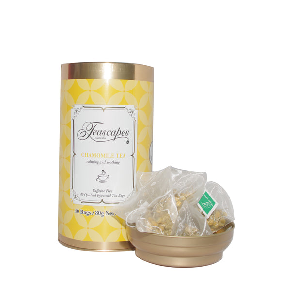 Chamomile Organic Pyramid Tea Bags - 40 bag tin