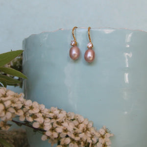 Bridesmaid Pearl Earrings